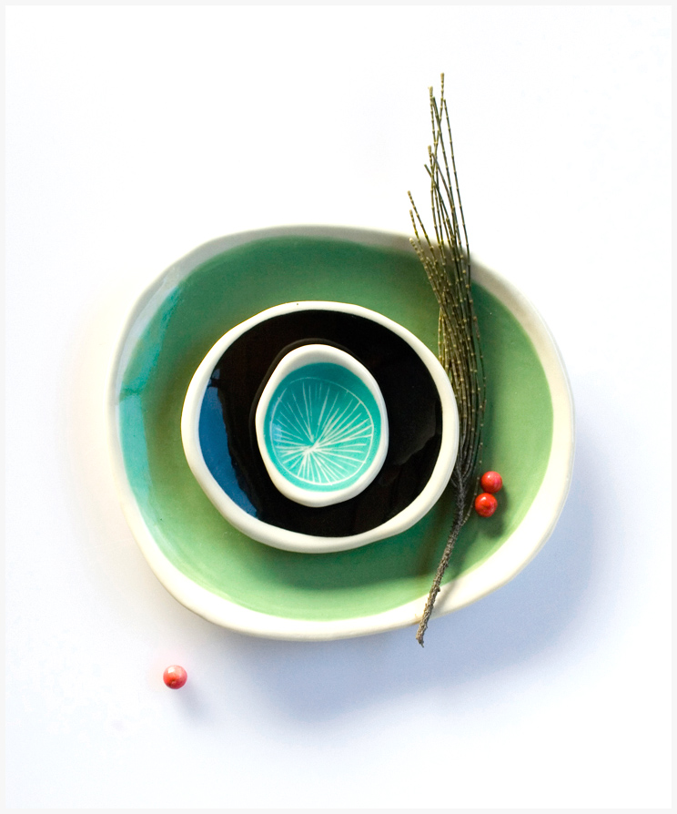 Product Photography and flat-lay styling by Karina Sharpe for Kim Wallace Ceramics.