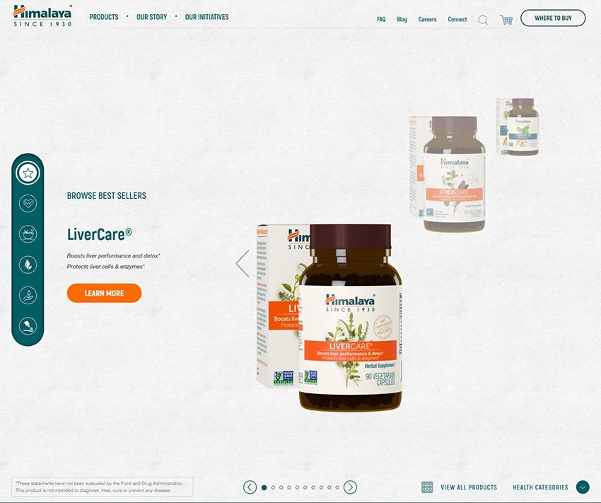 Himalaya website
