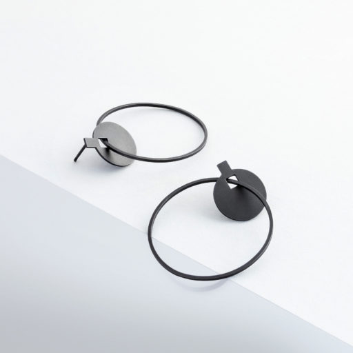 Black oxidised jewellery Still Life created by Karina Sharpe for Alison Jackson